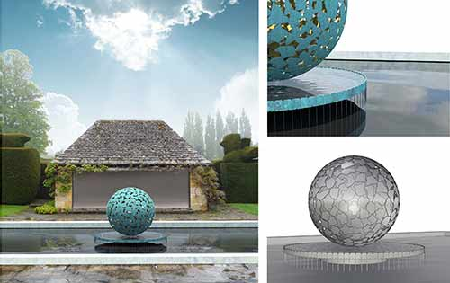 Concepts for sculpture in a pond