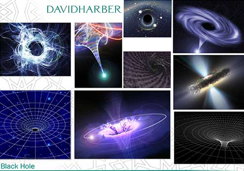 Inspirations for public sculpture based on black hole