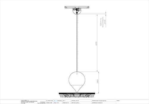 Pendulum technical drawing