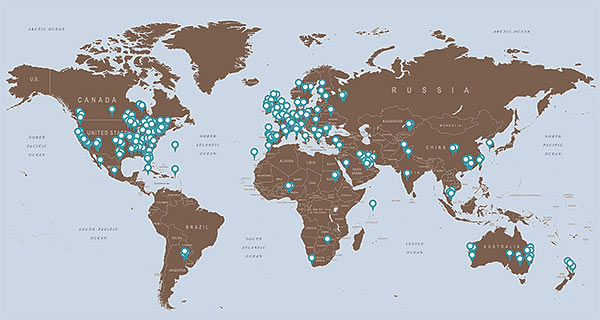 David Harber installations worldwide