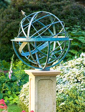 Attrayant Bronze Armillary Sundials With A Verdigris Patina