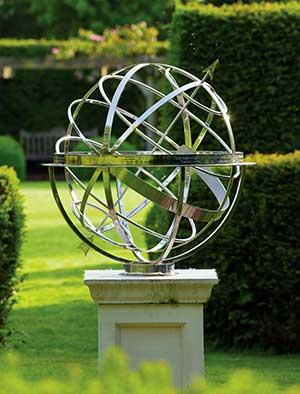 Modern Stainless Steel Armillary Spheres