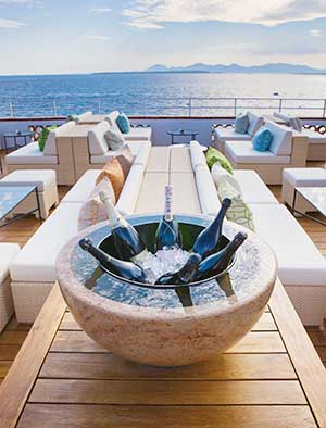 Stone champagne bucket, Antibes, France