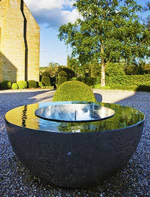 Charmant Award Winning Stainless Steel Water Feature
