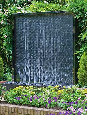 Water Wall Made From Hundreds Of Stainless Steel Petals