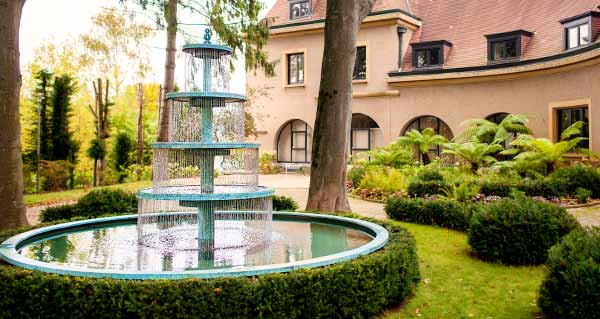 Very tall tiered garden fountain