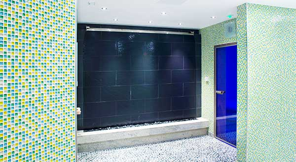 Slate water wall, Health Suite, Sofitel, Terminal 5, Heathrow