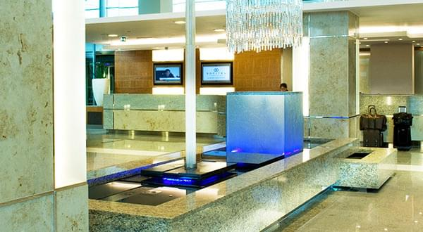 Commercial water feature, Main Atrium, Sofitel