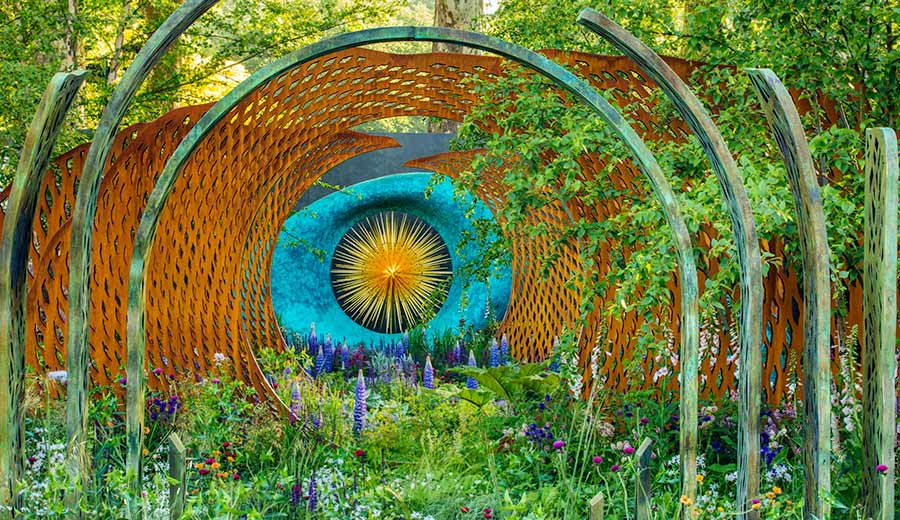 David Harber sponsored Show Garden at the Chelsea Flower Show, London, England