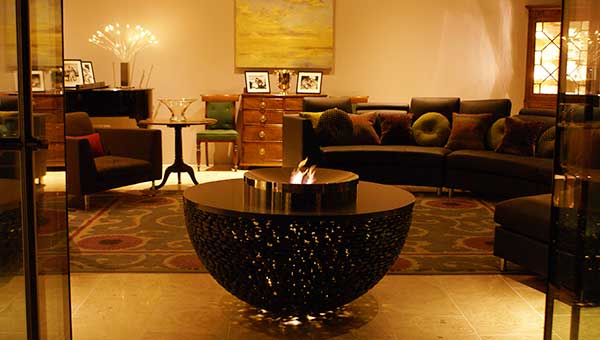 Fire Table with Stainless Steel Central Pit