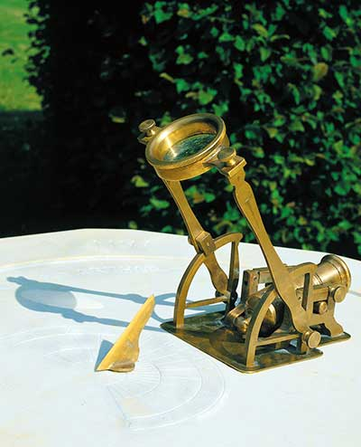 Noon day canon. Miniature brass cannon