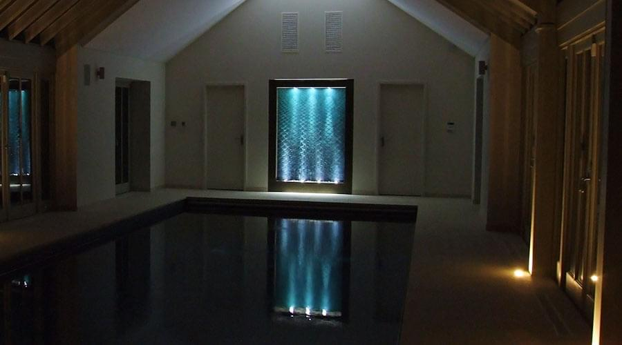 Custom Water Feature for a Swimming Pool