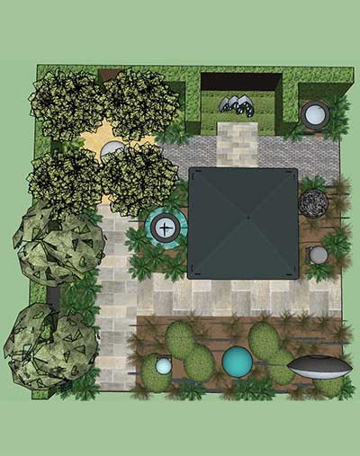 Aerial view of design for David Harber