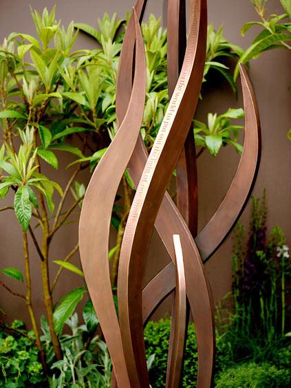 Bronze Garden Art Abstract Tree Sculpture In Verdigris