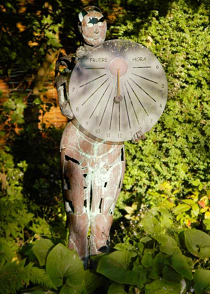 Copper garden sculpture - the Light Sorceress