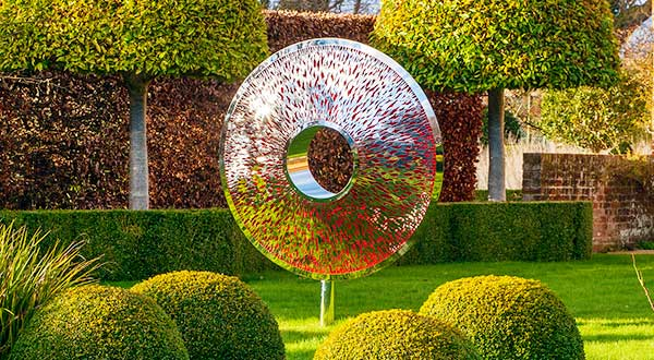 Iris Torus: a large garden sculpture that draws inspiration from the iris of the eye