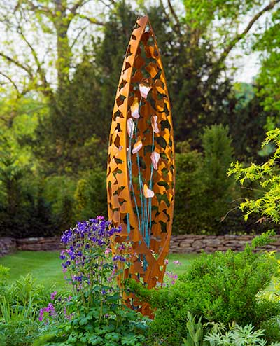 Contemporary metal sculpture for the garden