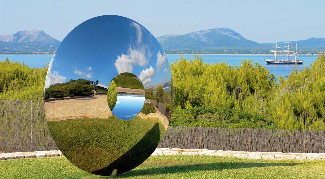 Torus outdoor sculpture in stunning setting in Majorca