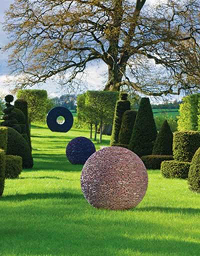 Slate garden sphere
