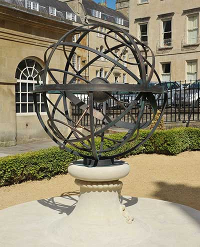 Custom memorial sundial, to Admiral Arthur Phillip, commander of the First Fleet to Australia,