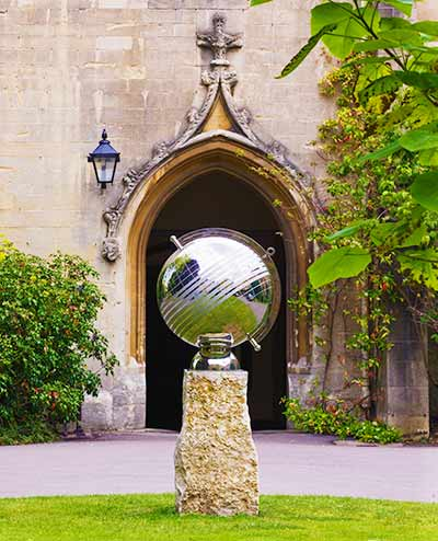 Custom anniversary sundial, marking 30 years of women students, Balliol College, Oxford