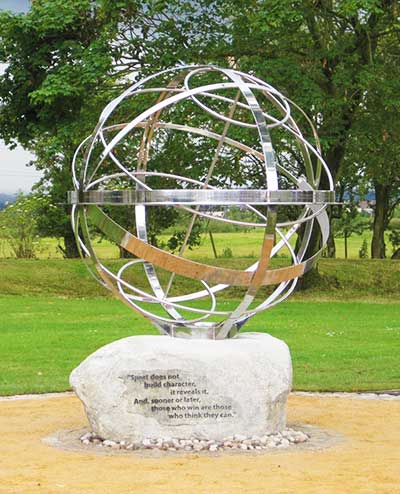 Memorial sundial for cyclist Pinky Williams,