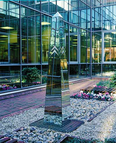 Stainless steel obelisk,