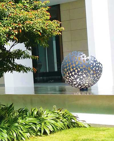 Custom <em>broken</em> Mantle sculptures, Scotts Square luxury residential towers, Singapore