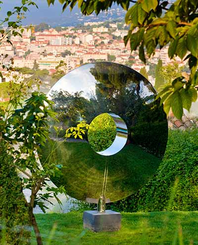 Torus sculpture overlooking Cannes, South of France