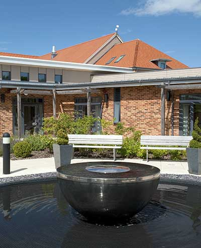 Chalice water feature,