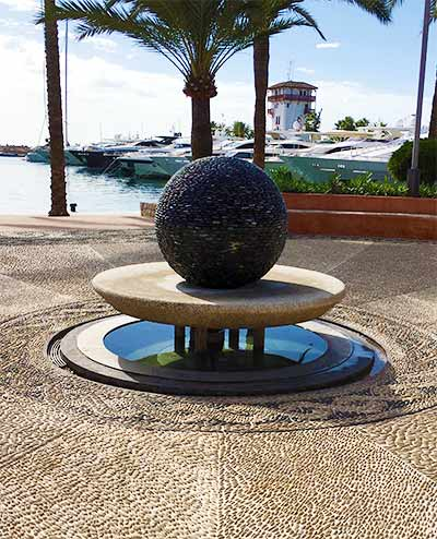 Dark Planet sculpture,