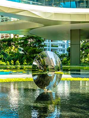 Real estate art for two high-end condominium towers, Singapore