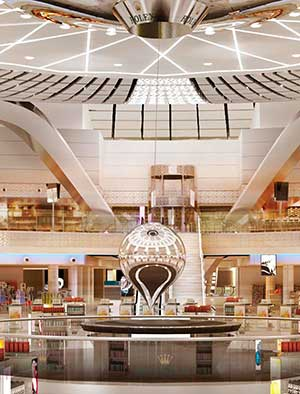 Large custom pendulum sculpture for Jeddah airport