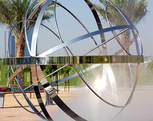 Custom sculptures and water features, Zabeel Park, Dubai