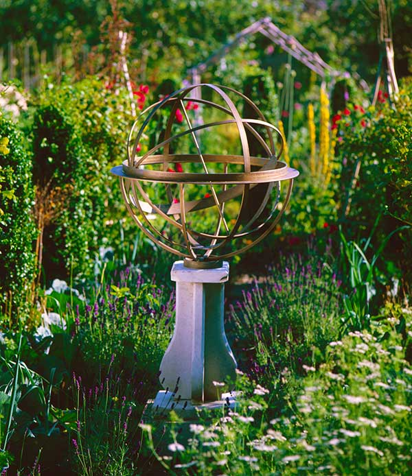 Bronze armillary in French Garden