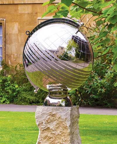 Stainless Steel Globe Sundial