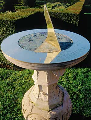 Personalised horizontal sundial featuring copper from Admiral Nelson