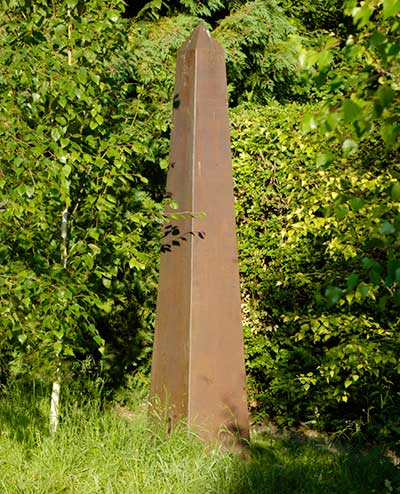 Copper Obelisk Garden Sculpture