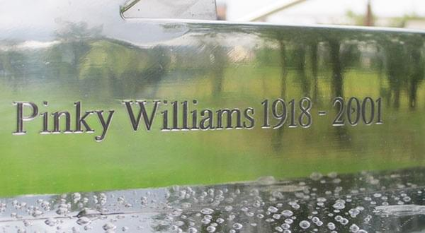 Sundial memorial to cyclist Pinky Williams