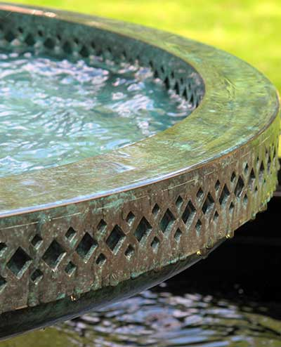 Detail of the Mimeo bronze water bowl