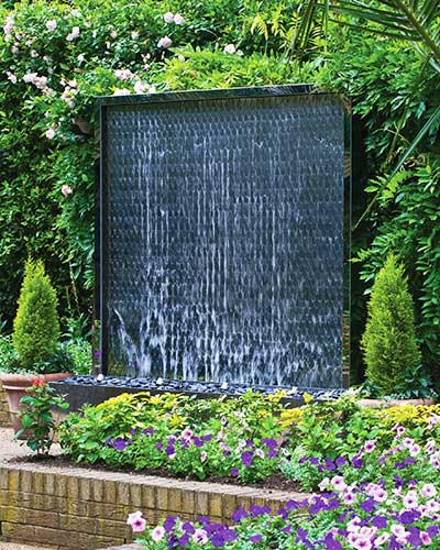 Garden water walls wall water features david harber for Garden water wall designs