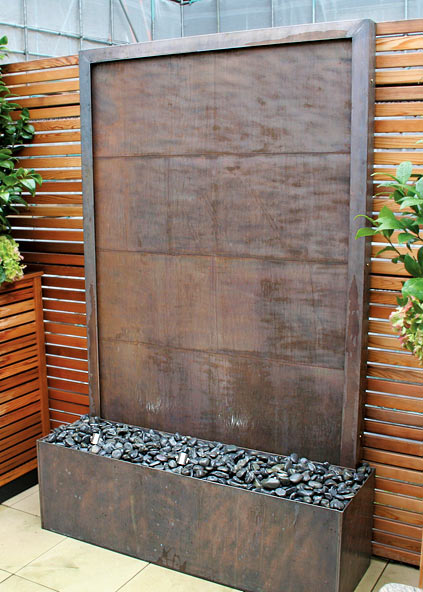 Copper water wall Diy wall water feature