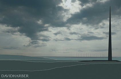 Public sculpture design for the coast North of Aberdeen, Scotland